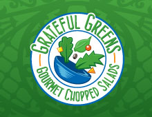 Grateful Greens Logo and Branding.